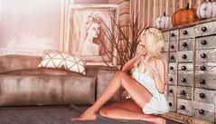 Daydreaming is good for the Soul. (desiredarkrose) Tags: interior decoration daydream blonde pose posefair ariskea pumpkin home homedecor mossu truth wetcat secondlifefashion secondlifephotography secondlifedecor