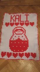 Russian Doll blanket for Kali (dochol) Tags: russiandoll hearts personalised name alphabet crochet croche haakwerk hakeln haakenwert handmade handcrafted homemade cute graph chart crochethook yarn wool blanket babyblanket manta afghan