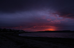 Stormy Morning - Dunoon Oct 2018 (GOR44Photographic@Gmail.com) Tags: westbay bay dunoon firthofclyde river clyde gourock scotland argyll cowal gor44 beach water sea sunrise houses olympus omdem5 1240mmf28