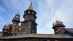 Protect thy faith (Francoise100) Tags: wooden russia russland russie karelia kizhi church kirche crosses island insel kizhipogost faith religion orthodox