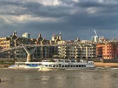 Bankside / Southwark, London, England (PaChambers) Tags: thames southwark bankside river 2018 england historic summer city beautiful europe uk cityoflondon iphone london bridge britain gb urban water capital