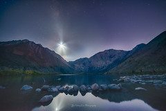 Another SpaceX rocket launch seen at Convict Lake (FollowingNature (Yao Liu)) Tags: highway395 sierranevada easternsierra followingnature convictlake california falcons rocklaunch spacex