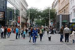 Vienna, Austria (wildhareuk) Tags: canon canoneos500d people shop street tamron18270mm austria building dog tamron vienna vienna2018 img8497dxo