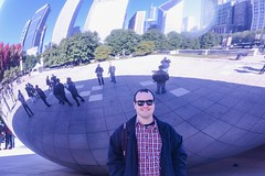 Cory in Chicago. (tduaneparker) Tags: nikond7100 tamron2875mmf28 street family bean cloudgate city millenniumpark chicago