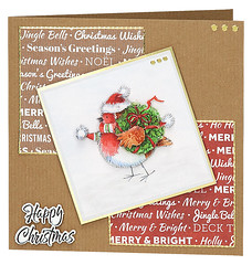 Craft Creations - Shelley178 (Craft Creations Ltd) Tags: robin christmas greetingcard craftcreations handmade cardmaking cards craft papercraft