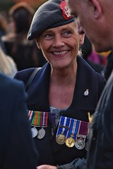 Well decorated. (Steve.T.) Tags: remembrance remembrancesunday remembranceday decorated medals beret veteransday veteran nikon d7200 sigma70300 chestfullofmedals smile lestweforget poppyday witham essex