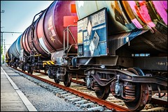 goliath (TheOtherPerspective78) Tags: train zug wagon wagons waggon freight cargo rail rails tracks nordbahnhof vienna wien outdoors schienen industry industrial city cityspace urban colors machinery machine theotherperspective78 canon eosm6