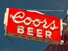 Ummm, BEER! (Orson Wagon) Tags: colorado beer neon sign coors drink red old