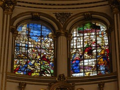 Granada Cathedral (Normann) Tags: spain granada church cathedral window stainedglasswindow