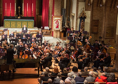 DSCN0073right Glinka Overture to Russlan and Ludmilla. Ealing Symphony Orchestra, leader Peter Nall, conductor John Gibbons. St Barnabas Church, west London. 6th October 2018. (Paul Ealing 2011) Tags: ealing symphony orchestra eso 6 october 2018 conductor john gibbons leader peter nall st barnabas church west london pitshanger lane w51qg w5 1qg england concert classical
