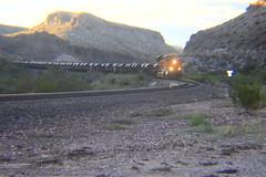 Keep Those Steel Coils Rolling (Douglas H Wood) Tags: kingmancanyon bnsf unittrain steel coils westbound landscape railroad route66