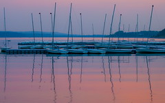 It's Over Rocky (stevenbulman44) Tags: sailboat pier dock canon 70200f28l seascape reservoir calgary alberta water reflection mast rest