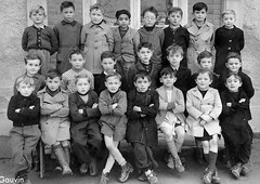 Class photo (theirhistory) Tags: boy children kid school class form group pupils jumper trousers wellies shoes coat jacket rubberboots shorts