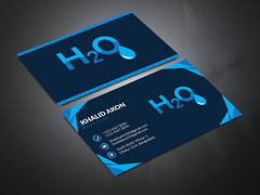 H2O Business Card Design (Khalid Akon) Tags: business card graphic design corporate professional modern stationary post cards unique unlimited revisions logo brand identity branding holding blank background human sign space paper person message horizontal mockup template photo image people own travel agency company plastic effect