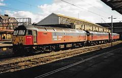 47722 & 47640 Crewe Scan (Waddo's World of Railways) Tags: 47 477 640 47640 722 47722 duff sulzer crewe class47 res mail train rail railway mailtrain crewestation railexpresssystems res47 thequeenmother
