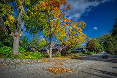 Village in Autumn (downstreamer) Tags: leelanau m22 northport samyang12mm autumn leaves street michigan unitedstates us