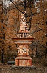 Headless monument (Shumilinus) Tags: 2014 85mmf18 landscape nikond300s sculpture statue monument pavlovsk park trees autumn bench rust historical