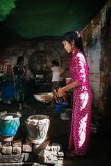 Yangon Breakfast (Crossing China) Tags: myanmar asia seasia girl boy man handsome beautiful street streetphotography streetportraits streetportrait streetfood shadows light night smoke yangon rangoon burma
