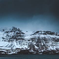Mountain landscape - Iceland (funkytravel) Tags: adventure blue bluewater details glace iceland islande kirkjufell landscape mer mountain nature nohuman nopeople nonurbanscene paysage picture snaefellsnes snow tourism travel trip water winter