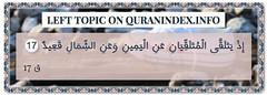 Browse Left Quran Topic on https://quranindex.info/search/left #Quran #Islam [50:17] (Quranindex.info) Tags: islam quran reciters surahs topics verses
