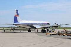 lLA Berlin 2018: Flying Bulls Douglas DC-6B OE-LDM (Helgoland01) Tags: airshow berlin brandenburg deutschland germany ila 2018 flyingbulls flugzeug aircraft aviation airplane plane flughafen airport