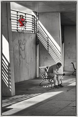 The Contrasts of Exercise and Leisure (Andy J Newman) Tags: berlin blackandwhite candid colorise colourise d500 germany nikon silverefex street vulturelabs