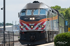 """401 Oliver """"Ollie"""" Tibbles @Chicago (aleks_cal) Tags: chicago train rail 401 ollie mpi metra locomotive"""