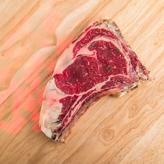 Normande beefsteak (annick vanderschelden) Tags: normande breed meat aged cattle normandy france flavour taste fat protein marbled bone food cooking culinary red hemoglobine raw meatripening meatmaturing belgium