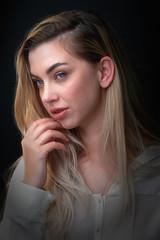 Seductive (Elenovela) Tags: porträt portrait girl woman beauty studio photokinacologne2018 photokina olympusomdem1markii olympus75mmf18 elenovela karstenmüller