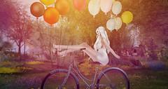 ~ ♥ Πάμε Μια Βόλτα ♥ ~ 18 (~ ღ Åɱṗḣɪṭṙịṭě's Ḅḷöġ ღ ) Tags: secondlife sl art photography fantasy garden forest fairytale bike balloons flowers romantic bymyself white blonde arcanespellcasterakcreations ncore