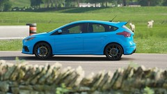 Ford Focus RS (polyneutron) Tags: horizon ford sportcar blue green landscape colors morning