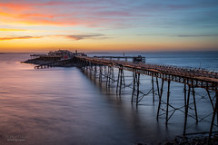 Birnbeck Pier at Sunset