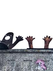 Hands up! (marfis75) Tags: streetart marfis75 hände hand hands installation agram zagreb croatia kroatien street wand wall kunst art hoch handup händehoch cc creative commons creativecommons