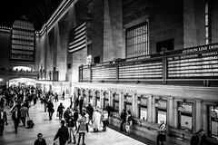 Grand Central Station (Maria Eklind) Tags: grandcentral trainstation usa newyork building grandcentralstation us architecture bw blackandwhite station