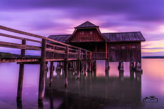 Ammersee_Hütte (Schally Photography) Tags: ammersee bayern germany canon sunset longshot longtime longtimeexposure nice location inning am