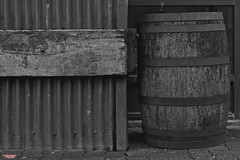 More Fun Than A Barrel of Monkeys (MBates Foto) Tags: availablelight barrel blackandwhite building carlzeiss daylight existinglight monochrome nikon nikond810 nikonfx outdoors urban wood zeisslens vancouver britishcolombia canada v6h3r9