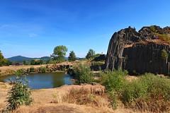 """Rock """"Panská skála"""" (ZdenHer) Tags: rock panskáskála landscape lagoon water sky czechrepublic canonpowershotg7xmarkii"""
