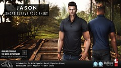 NEW! COLD ASH - JASON POLO SHIRT @ TMD OCTOBER EVENT (coldashsl) Tags: sl menswear mens mesh clothing fashion male shop coldash cold ash tmd department project signature gianni fittedmesh fitmesh belleza jake shirt slink geralt polo
