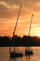 Nile Sunset (jameswoo2) Tags: nile egypt boats sunset luxor