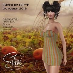 Group gift october 2018 (Selene Morgan) Tags: group gift free selenecreations maitreya lara isis freya venus belleza slink original physique hourglass ebody dress