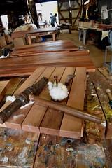 Caulking Demos in the Boatshop (Chesapeake Bay Maritime Museum Photos) Tags: caulking woodenboatbuilding cbmm