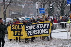 (rellisphotography) Tags: sheffield england winter snow cold university uos strike ucu pension savestaffpensions picket nocapitulation universityofsheffield campaign march streets street architecture diamond