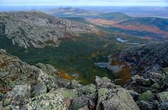 On the Summit of Mount Katahdin, Baxter State Park, Maine (jtr27) Tags: dscf2409xl jtr27 fuji fujifilm xt20 xtrans samyang rokinon 16mm f2 f20 manualfocus wideangle mount katahdin baxterstatepark maine newengland autumn foliage hike hiking chimneypond