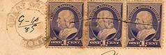 Sweet Grass, Montana (Postmarks from Montana) Tags: montana sweetgrass postmark postagestamp 1889 september16