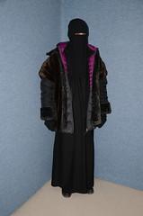 Slave Girl (Warm Clothes Fetish) Tags: maid slave warm hot sweat torture coat fur fleece boots hat anoak niqab hijab burka chador girl