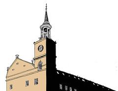 Ex-Jute Mill, Now Flats, Dundee, Scotland, August 2018 (stevefaradaysketches) Tags: jutemill flats urbansketch urbansketchers usk inkdrawing illustration onlocation penandinksketch dundee scotland architecture classical