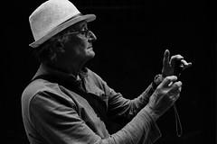 A Fellow Photographer (Stefan Waldeck) Tags: man photographer hat profile portrait bw cefalu italy 2018 netzki stefanwaldeck stefan waldeck