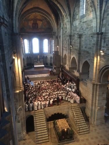 Konzert Bamberg Blick von der Domorgel