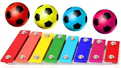 Learn Colors with Xylophone Soccer Balls | Football Balls Bouncing for Children HooplaKidz (Hoàng Đồng) Tags: colors learn learncolors learncolorswithballoons learncolorswithsoccerballs learncolorswithxylophone soccerb xylophone xylophonependulum