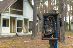 Disconnected (Khuroshvili Ilya) Tags: abandoned electricity village camping forest outdoors pines konakovo autumn wires power disconnected ussr pioneer camp soviet contact switch